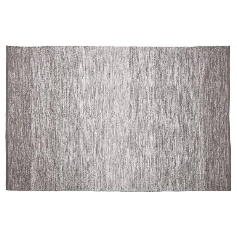 Tapis design rectangulaire (230 cm X 160 cm) BASILE en coton (gris)