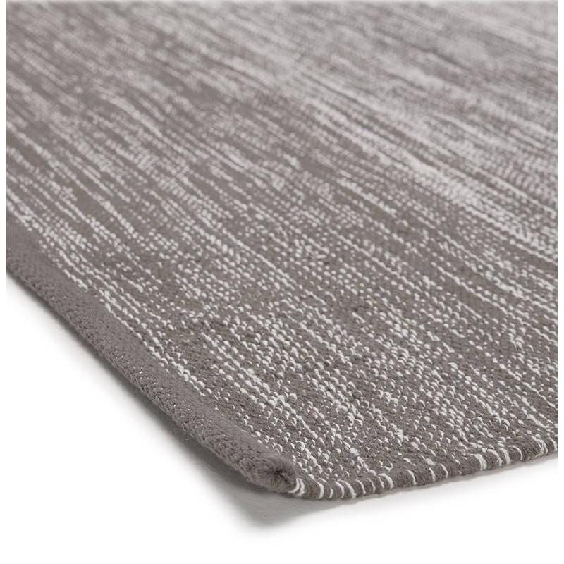 Tappeto design rettangolare (230 X 160 cm) cotone Basil (grigio) - image 38521