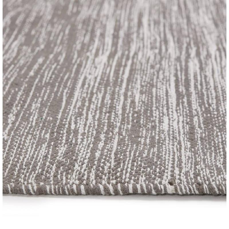 Tappeto design rettangolare (230 X 160 cm) cotone Basil (grigio) - image 38522