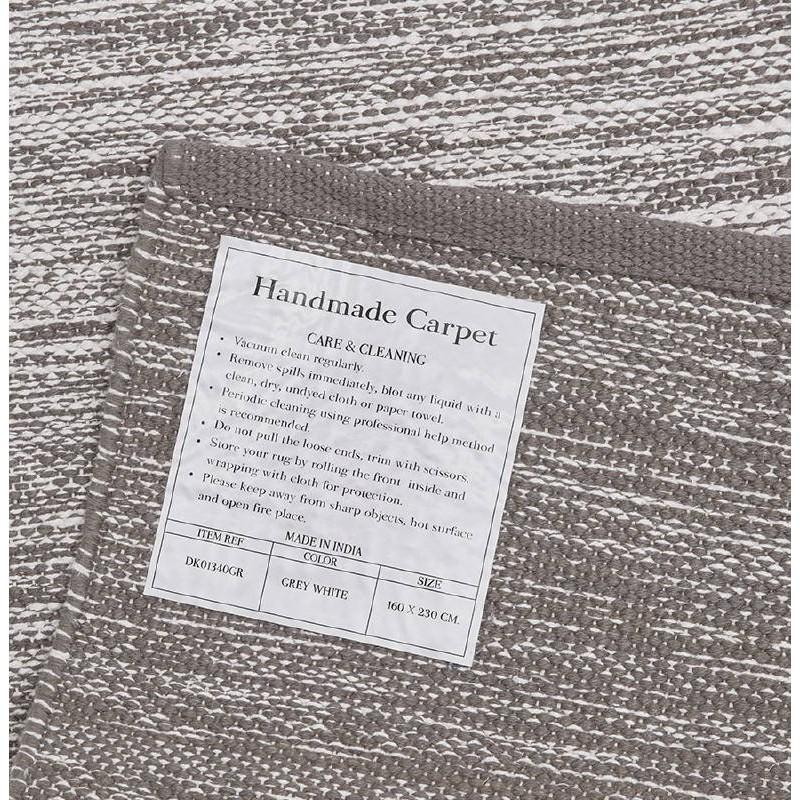 Tappeto design rettangolare (230 X 160 cm) cotone Basil (grigio) - image 38527