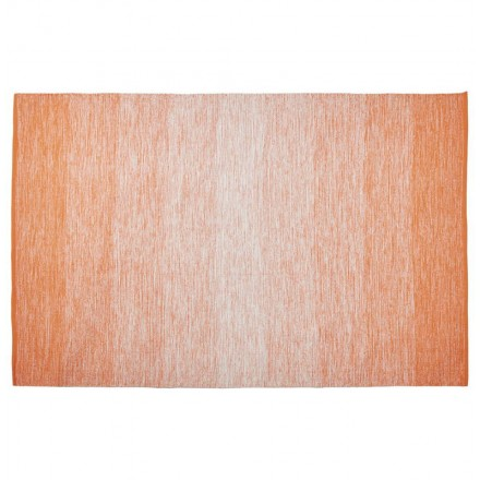 Tapis design rectangulaire (230 cm X 160 cm) BASILE en coton (orange)