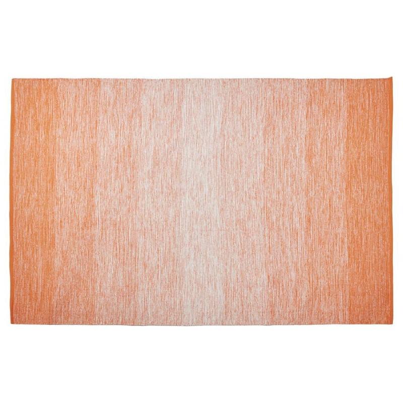 Tapis design rectangulaire (230 cm X 160 cm) BASILE en coton (orange) - image 38528