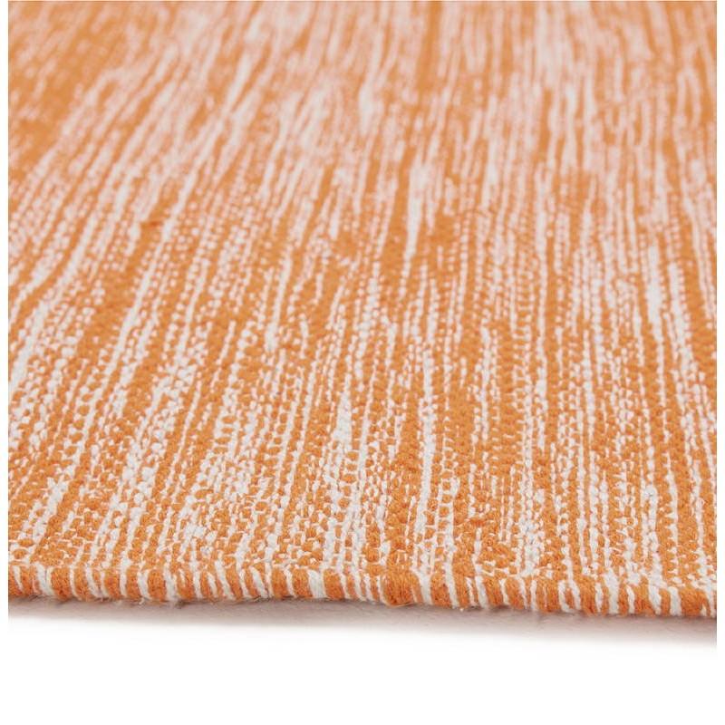 Tapis design rectangulaire (230 cm X 160 cm) BASILE en coton (orange) - image 38533