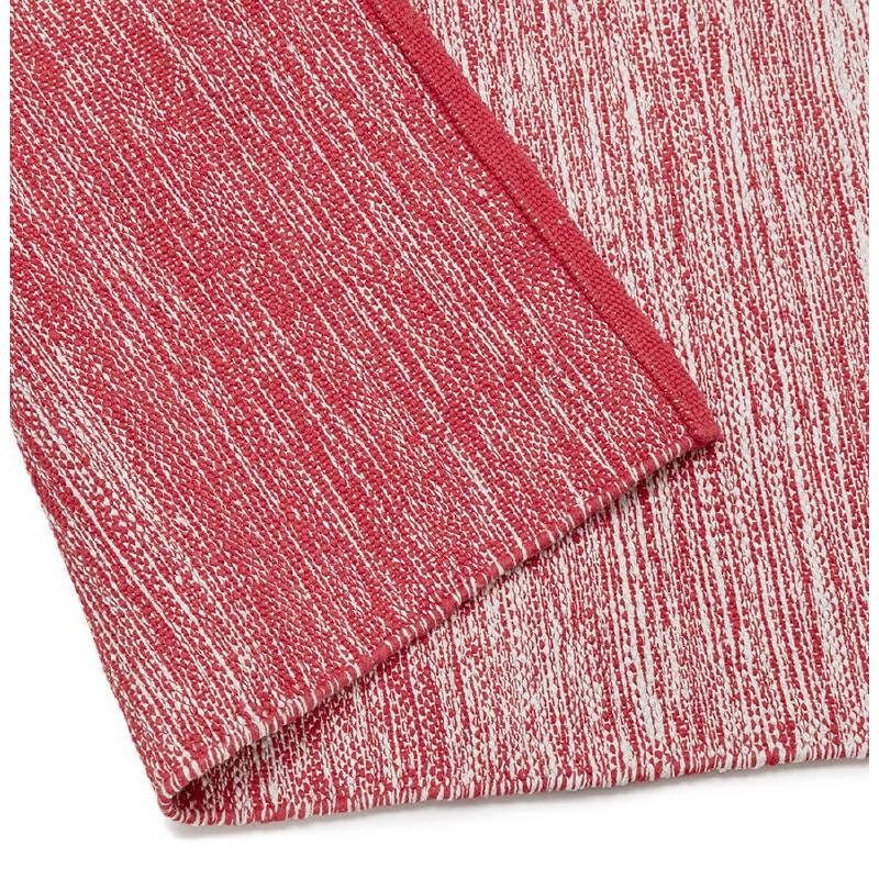 Tapis design rectangulaire (230 cm X 160 cm) BASILE en coton (rouge) - image 38545