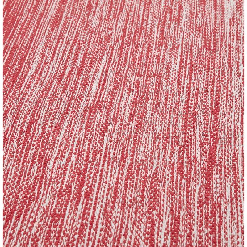 Tapis design rectangulaire (230 cm X 160 cm) BASILE en coton (rouge) - image 38549