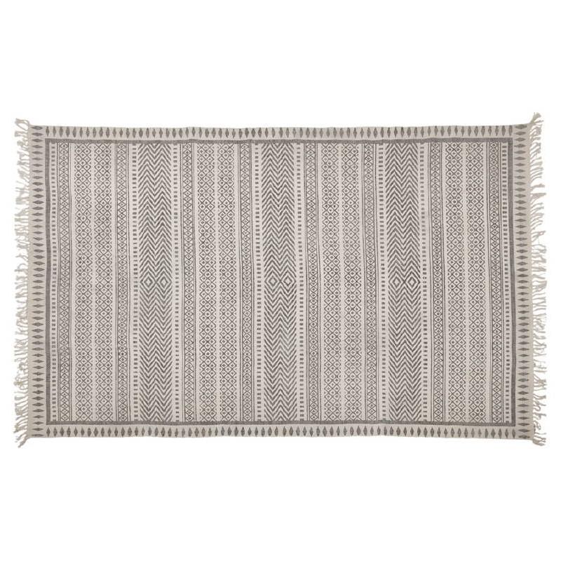 Tapis design rectangulaire style berbère (230 cm X 160 cm) CELIA en coton (gris)