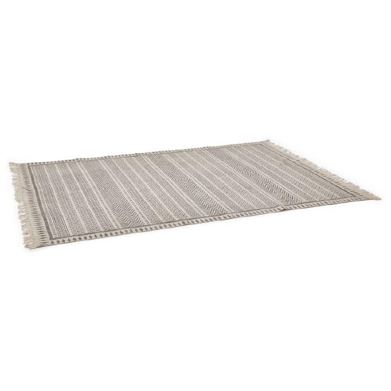 Tapis design rectangulaire style berbère (230 cm X 160 cm) CELIA en coton (gris) - image 38552