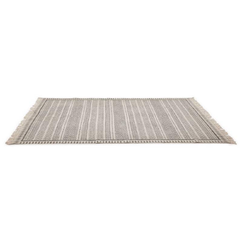 Tapis design rectangulaire style berbère (230 cm X 160 cm) CELIA en coton (gris) - image 38553
