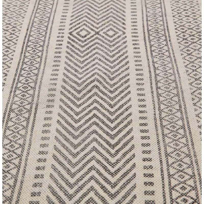 Tapis design rectangulaire style berbère (230 cm X 160 cm) CELIA en coton (gris) - image 38560