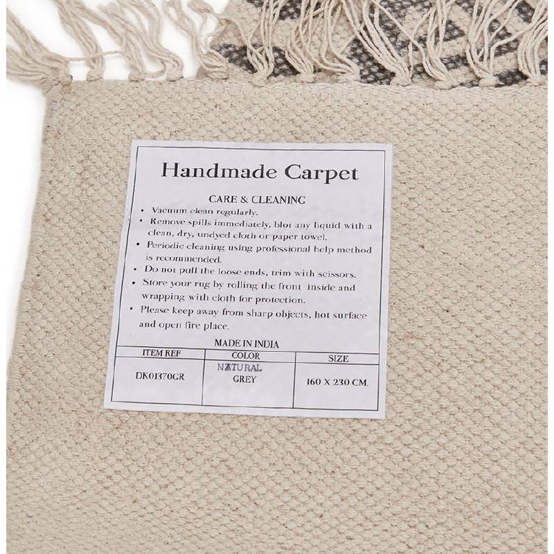Tapis design rectangulaire style berbère (230 cm X 160 cm) CELIA en coton (gris) - image 38561