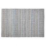 Carpet design rectangular (230 cm X 160 cm) BALBINE in jeans and wool (blue, beige)