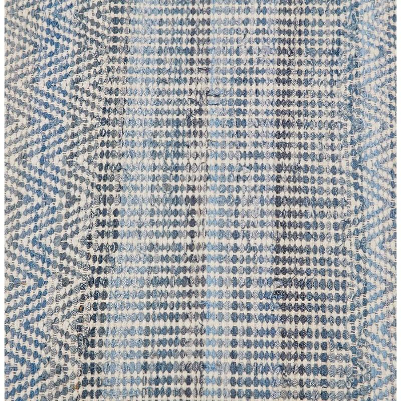 Tapis design rectangulaire (230 cm X 160 cm) BALBINE en jeans et laine (bleu, beige) - image 38581