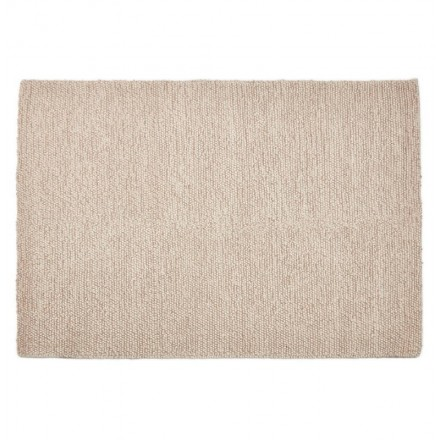 Carpet design rectangular (230 cm X 160 cm) BADER in wool (beige)