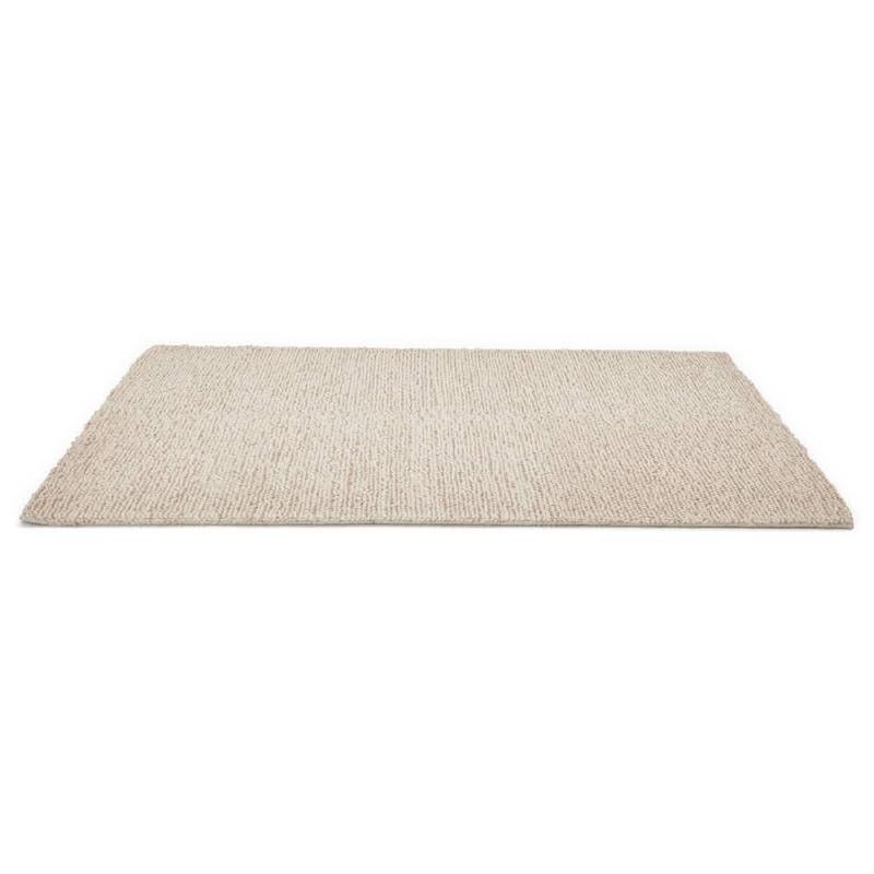 Tapis design rectangulaire (230 cm X 160 cm) BADER en laine (beige) - image 38587