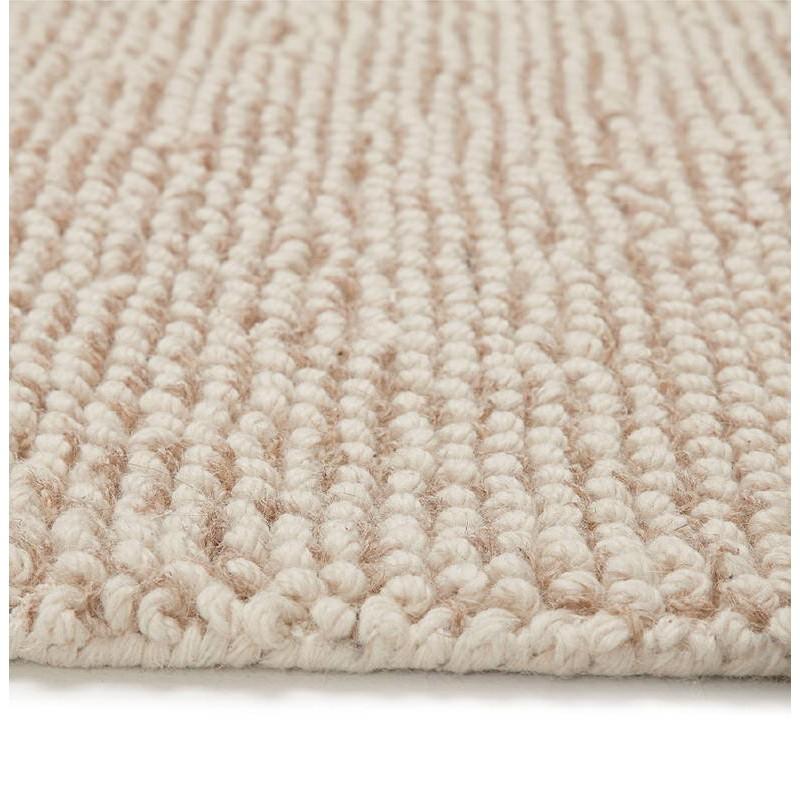 Tapis design rectangulaire (230 cm X 160 cm) BADER en laine (beige) - image 38590