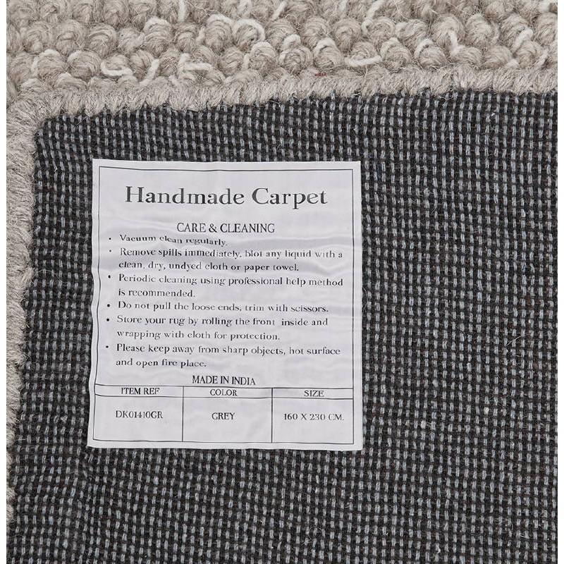 Tapis design rectangulaire (230 cm X 160 cm) BADER en laine (gris) - image 38605
