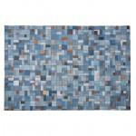 Tapis fun rectangulaire (230 cm X 160 cm) GABIE en jeans (bleu)