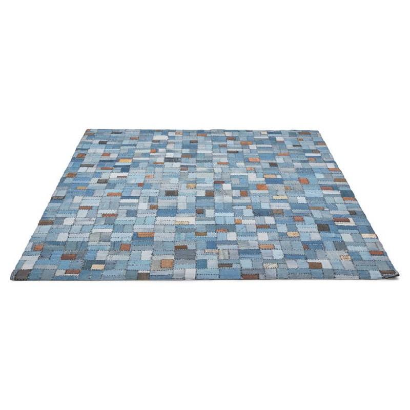 Tapis fun rectangulaire (230 cm X 160 cm) GABIE en jeans (bleu) - image 38609