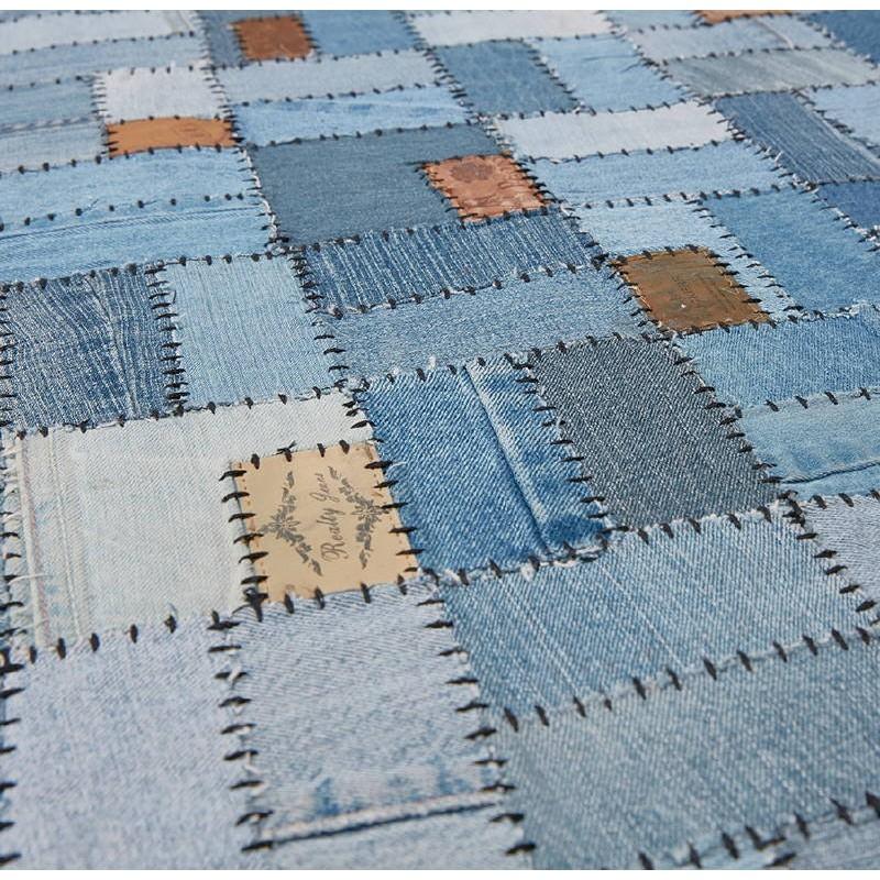 Tapis fun rectangulaire (230 cm X 160 cm) GABIE en jeans (bleu) - image 38615