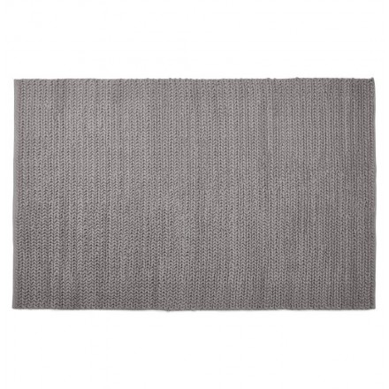 Carpet design rectangular (230 cm X 160 cm) knit (gray) cotton