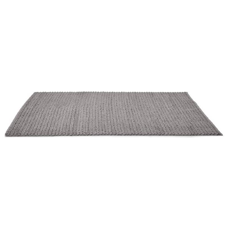 Tapis design rectangulaire (230 cm X 160 cm) TRICOT en coton (gris) - image 38621