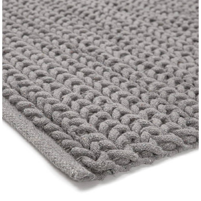 Tapis design rectangulaire (230 cm X 160 cm) TRICOT en coton (gris) - image 38623