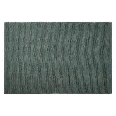 Carpet design rectangular (230 cm X 160 cm) knit cotton (green)