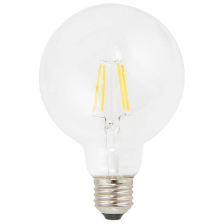 Bulb round IVAN industrial vintage glass filament LED (transparent)