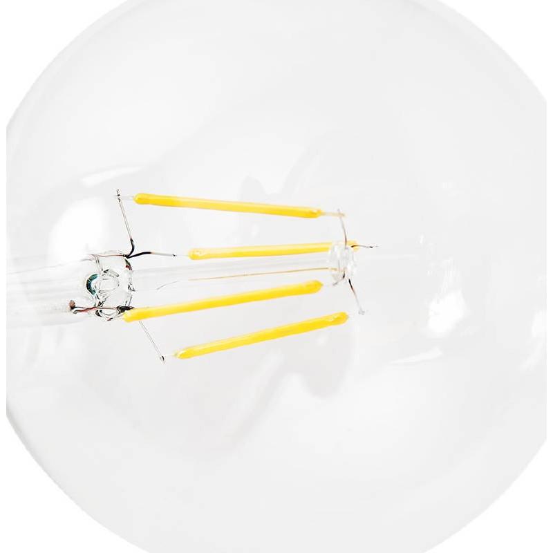 Bulbo rotondo il filamento di vetro vintage industriale di IVAN LED (trasparente) - image 38650
