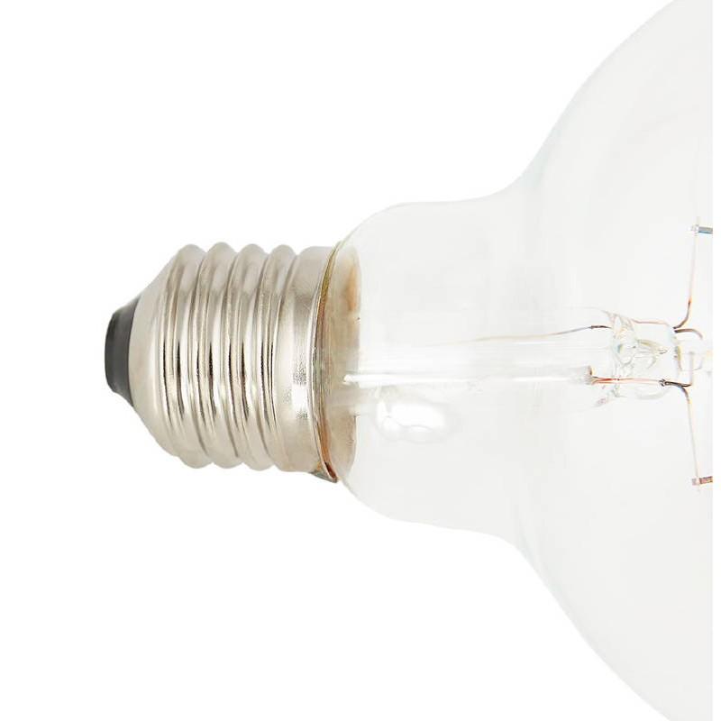 Bulbo rotondo il filamento di vetro vintage industriale di IVAN LED (trasparente) - image 38651