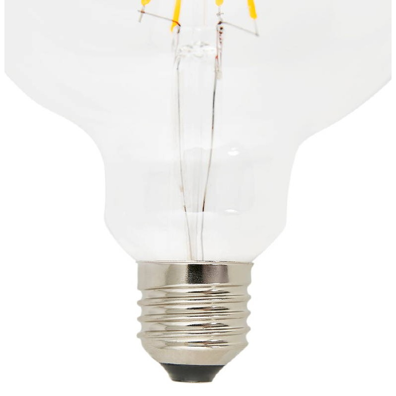 Bulb round IVAN BIG industrial vintage glass filament LED (transparent) - image 38656