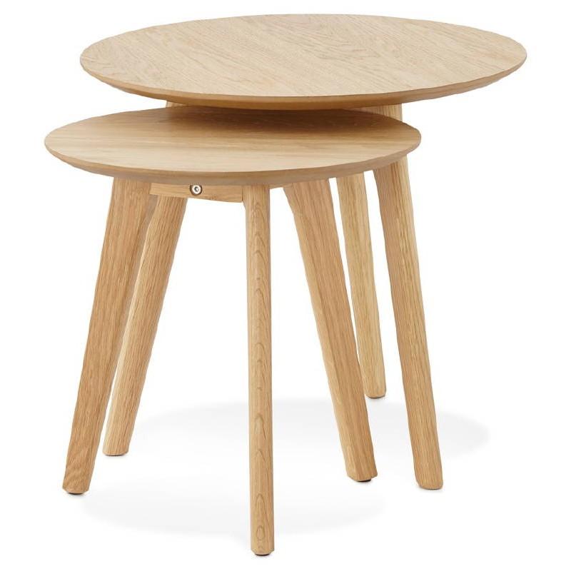 Tables gigognes ART en bois et chêne massif (naturel) - image 38659