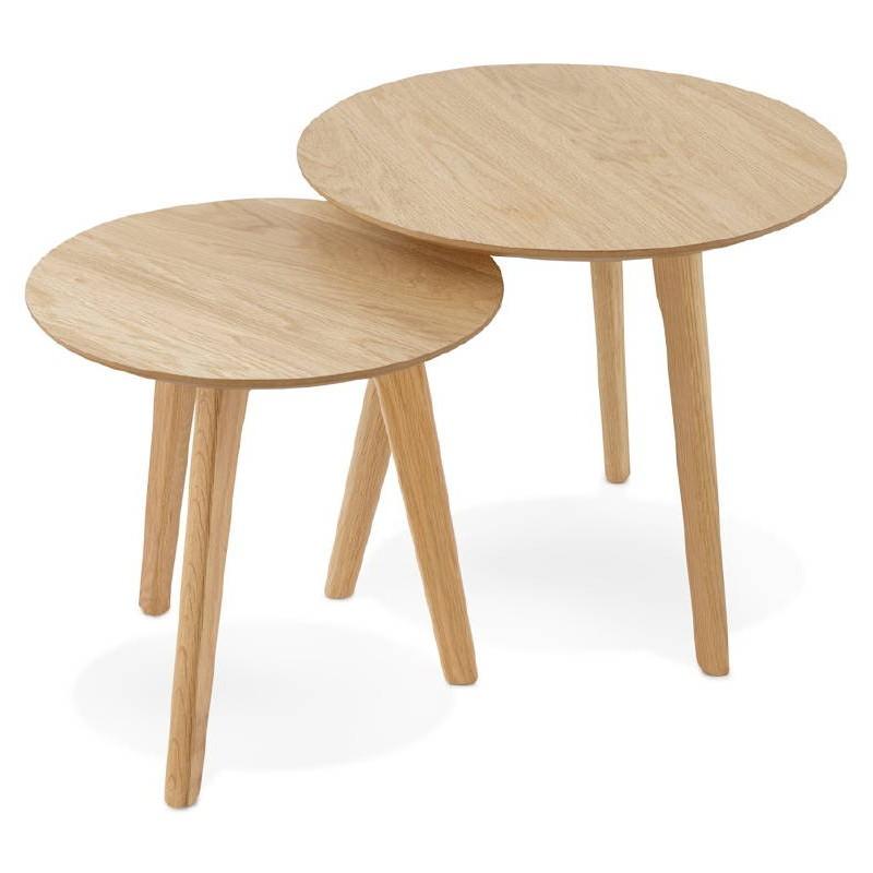 Tables gigognes ART en bois et chêne massif (naturel) - image 38660
