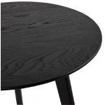 Tire-hacia fuera las tablas arte en madera y roble (negro)