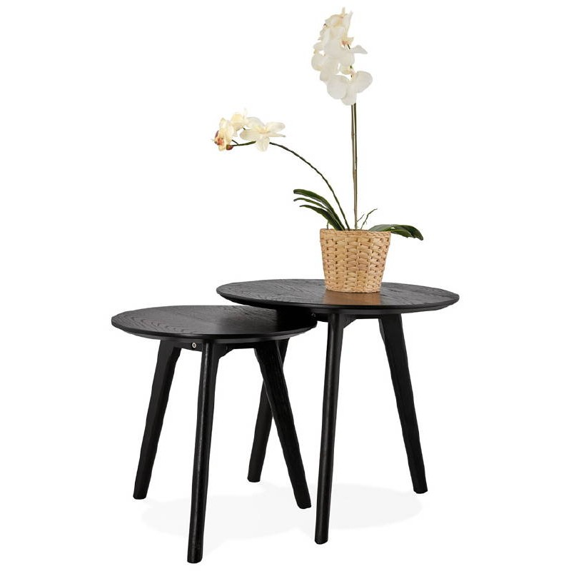 Tables gigognes ART en bois et chêne massif (noir) - image 38682