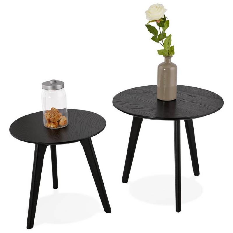 Tables gigognes ART en bois et chêne massif (noir) - image 38683