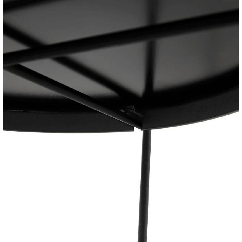 Table d'appoint pliable, bout de canapé ZOE en verre et métal (noir) - image 38708