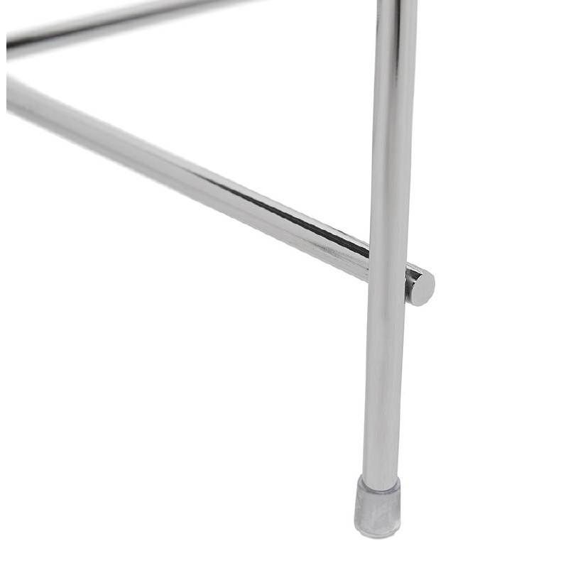 Table d'appoint pliable, bout de canapé ZOE en verre et métal (chrome) - image 38721