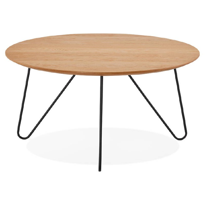 Table basse design FRIDA en bois et métal (naturel) - image 38725