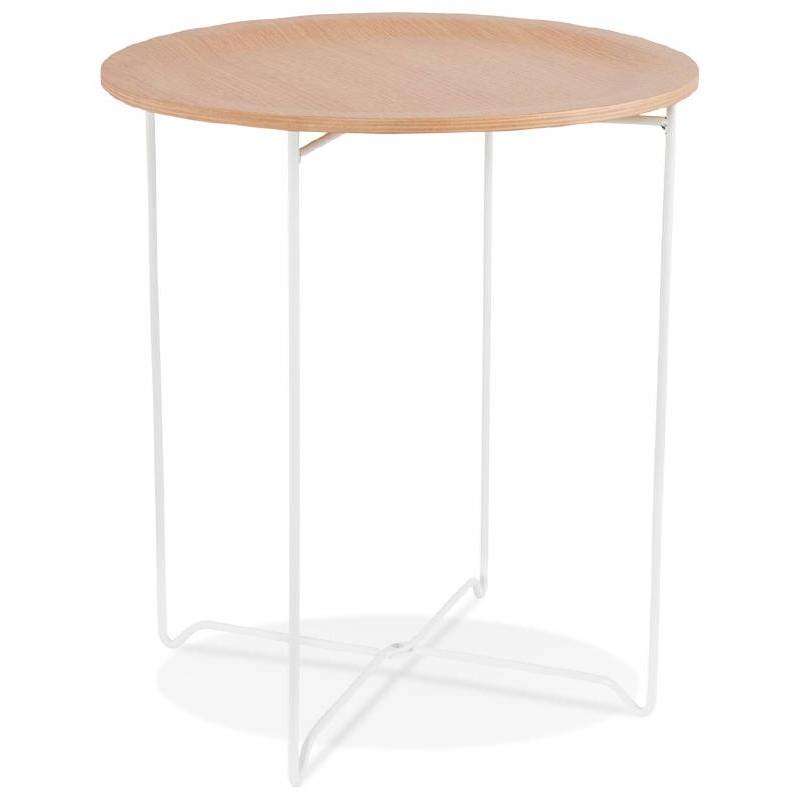 Table d'appoint, bout de canapé design ZACK (naturel) - image 38750