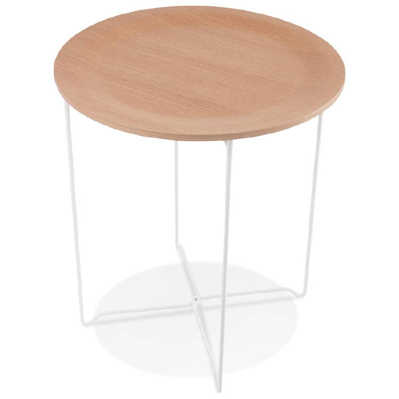 Table d'appoint, bout de canapé design ZACK (naturel) - image 38753