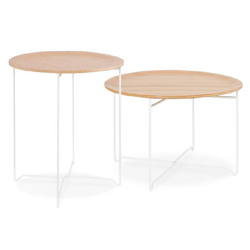 Table d'appoint, bout de canapé design ZACK (naturel) - image 38763