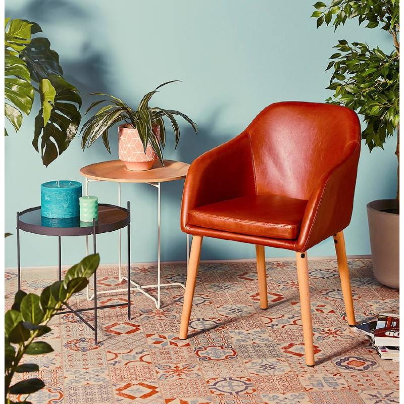 Table d'appoint, bout de canapé design ZACK (naturel) - image 38765