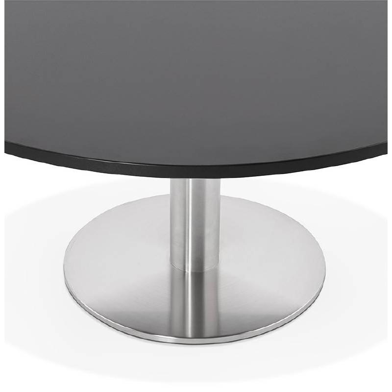 Table basse design YAEL en bois et métal brossé (noir) - image 38778