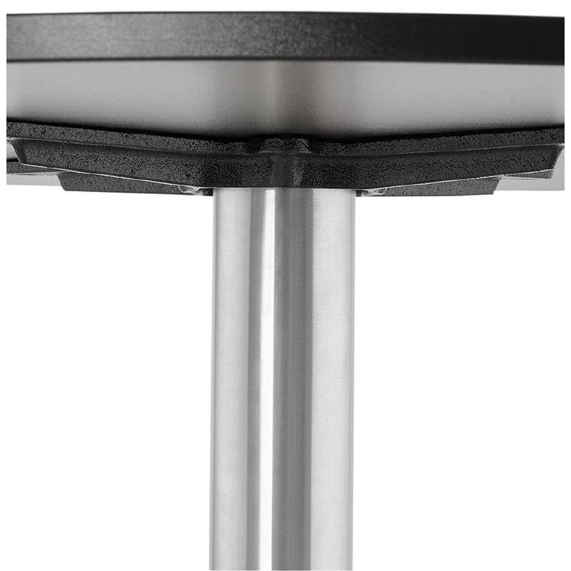 Table basse design YAEL en bois et métal brossé (noir) - image 38779