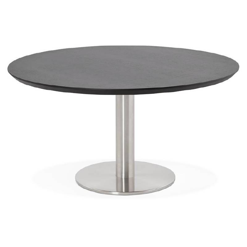 Table Basse Design Willy En Bois Et Metal Brosse Noir