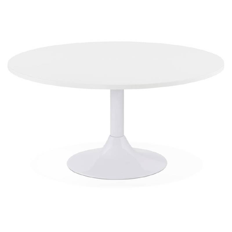 Table basse design VICTORIA en bois et métal peint (blanc) - image 38807