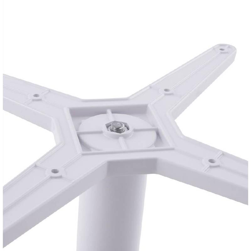 Table basse design VICTORIA en bois et métal peint (blanc) - image 38811