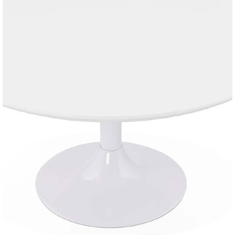 Table basse design VALENTINE en bois et métal peint (blanc) - image 38814