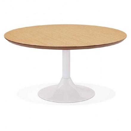 San Valentino disegno tavolino in legno e metallo verniciato (rovere naturale)